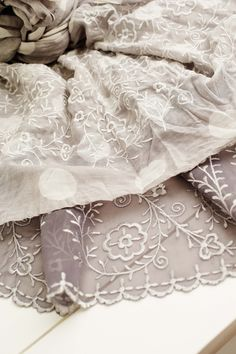 It's all about Lace! Use the designs for home decor or to fill your wardrobe with lace this autumn. This collection includes both freestanding lace with appliqué, lace on Tulle and cutwork designs.
