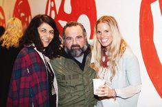 Tina Tainui, Frank Valvo and Lucy at the PIZZA FW13 launch party !!