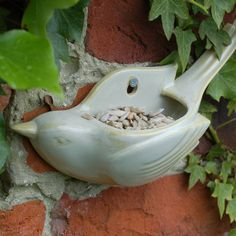 Wall Mounted Ceramic Birdfeeder