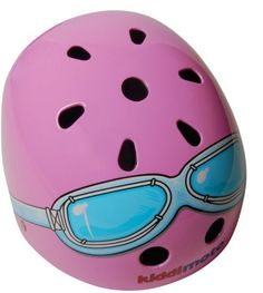 coolest bike helmets for kids: Kiddimoto's pink goggles are pretty inventive