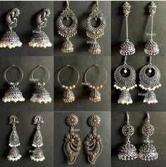 Die Silberschmuck Boot - All You Need to Know Indian Jewelry Earrings, Silver Jewellery Indian, Jewelry Design Earrings, Indian Wedding Jewelry, Bridal Jewelry, Silver Jewelry, Silver Ring, Silver Earrings, Silver Bracelets