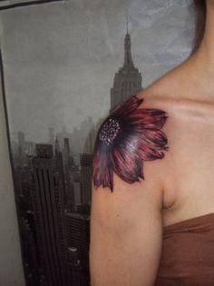 Consider it done. shoulder flower