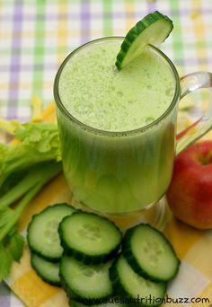 Cucumber Celery Apple Ginger Juice for Smooth Skin