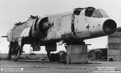...and the sad end for XR219, shot to pieces at Shoeburyness.