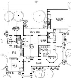 Ranch House Plan First Floor - 111D-0009 | House Plans and More