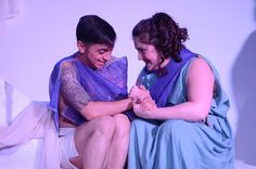 Siblings reunited: Orestes (Sam Hayder) and Electra (Erin Boots). Photo by  Britt Olsen-Ecker Photography.