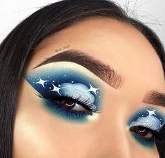 Cloud Eye Makeup Looks Are The Latest Beauty Trend – Loading. Cloud Eye Makeup Looks Are The Latest Beauty Trend – Makeup Trends, Makeup Inspo, Makeup Inspiration, Eye Makeup Art, Cute Makeup, Awesome Makeup, Wolf Makeup, Media Makeup, Eye Art