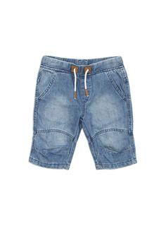 Longer length denim shorts from Pumpkin Patch lookbook range. Salta wash sizes 12-18m to 5. Style S6TB50003.