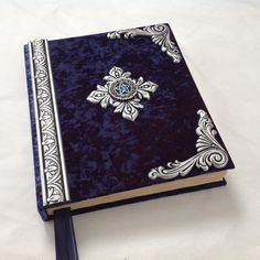 Ring Box : Large Handmade Book of shadows blank spell by CustomHandMadeBooks Grimoire Book, Book Journal, Journals, Notebooks, Painted Books, Magic Book, Handmade Books, Leather Journal, Book Binding