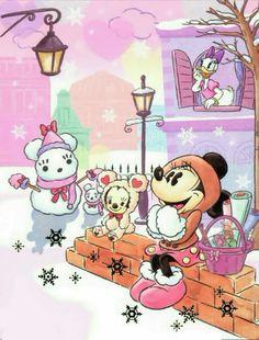 Minnie and Daisy Walt Disney, Disney Magic, Disney Mickey, Disney Art, Retro Disney, Cute Disney, Minnie Mouse Pictures, Disney Pictures, Mickey Mouse And Friends