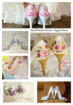 Love these Hand Painted Shoes by Figgie Shoes. Just stunning and very one of a kind
