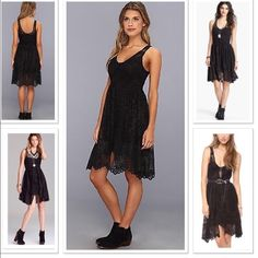 🎈ONE HOUR SALE🎈Free People Mini Kristal Dress Free People Black Kristal Metallic Lace Fit Flare Dress Gorgeous lace shot through with metallic shimmer composes a tank-style bodice and softly swaying skirt for a whimsical dress with versatile standalone or layer-it-on style.  . Side zip closure. Lined. 100% polyester. Very gently used.. Retail $128 Pics of actual dress coming soon.  HIC-2 Free People Dresses