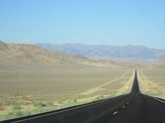 NEVADA: Loneliest Road in America and one of the fastest... took this trip w/ my mom, stepsister, and stepdad when my mom and the pillar stepdad eloped!! It was lots of fun!!