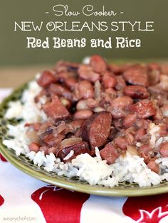 Slow Cooker Red Beans & Rice -  Weary_Chef