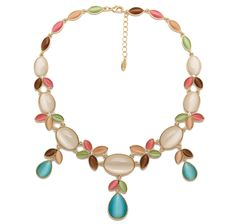 Roberto by RFM Valeria Simulated Cat's Eye & Crystal Necklace
