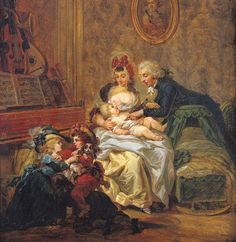 The Satisfaction of Marriage  by Francois Louis Joseph Watteau,1758-1823