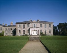 View of the west front of The Argory, showing the original house built 1820-24, with the north front. Co Armagh, Northern Ireland. National Trust property.