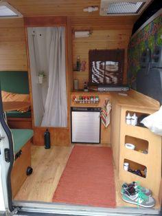 Camper van interior design and organization ideas (73)