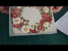 Cómo aprovechar tus restos de servilletas - Decoupage estilo Patchwork - DIY - Tutorial Reciclado - YouTube