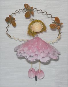 """Pink Mushroom Metal Garden Fairy Gift Stake by Trade Routes NW. $19.99. 7"""" high. Whimsical Garden Art. Loved by young & old. Perfect gift for any occasion. Metal construction. Our adorable Pink Mushroom Metal Garden Fairy Gift Stake is a great accent to a potted plant. Add it to your yard art and she enchants all who see her! She stands 7 1/2"""" high and comes with a 10"""" stake."""