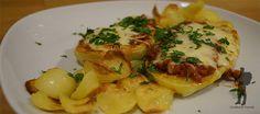 Hot stuffed Texas style potatoes - American dish