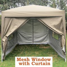 Quictent Privacy 8'x8' Beige EZ Pop Up Party Tent Canopy Gazebo Screen Curtain 100% Waterproof