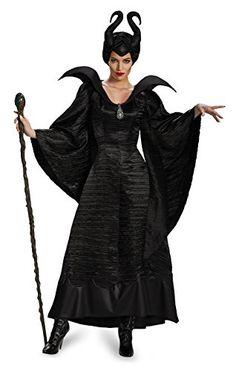 Disguise Women's Disney Maleficent Black Christening Gown Costume  Halloween Galaxy