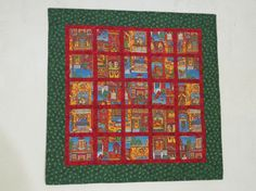 Quilted Holiday Wall Hanging Table Topper by QuiltinWaYnE on Etsy