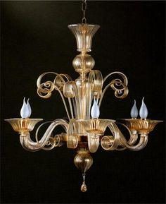 Venetian glass chandelier #GElighting