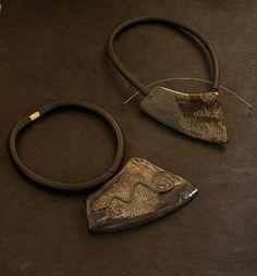 contemporary buffalo horn necklace