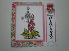 Lovely papers from Kaisercraft. Stampendous stamp. (Craftyhearts)