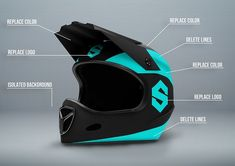 Fullface Motorcycle Helmet Mockup by Vitamin on @creativemarket