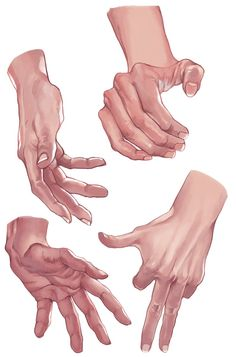 Hand Reference poses in color Painting Tutorial, Hand Drawing Reference, Hand Pose, Hand Reference, Art Reference Poses, Art, Human Anatomy, How To Draw Hands, Hand Art