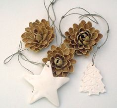 Inspiration... pistachio shell flower ornaments.