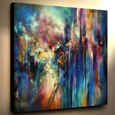 Art Abstract Large Painting Mix Lang Modern Contemporary Certified HomeDecor #Expressionism