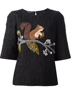Shop Dolce & Gabbana embossed squirrel top in Boutique Antonia from the world's best independent boutiques at farfetch.com. Over 1000 designers from 60 boutiques in one website.