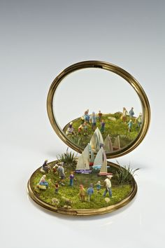 Miniature worlds by Kendal Murray on everyday objects