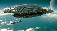 'Coming Home' by Emre Goren, spaceship