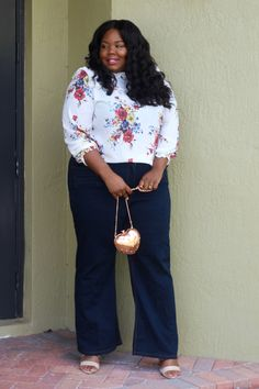 The Perfect Flare Jeans Styled 2 Ways - Everything Curvy and Chic