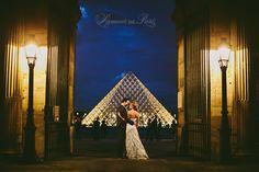 Paris elopement wedding ceremony at the Eiffel Tower, portrait photography at the Pont Alexandre III, Notre Dame de Paris, Pont des Arts lov...