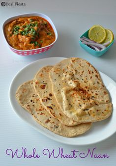 Whole Wheat Naan ( Yeast Free) | Stove top whole wheat  Naan