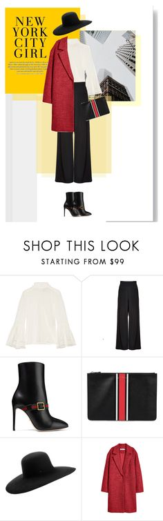 """New York City Girl"" by genovevajc ❤ liked on Polyvore featuring Fendi, Alice + Olivia, Gucci, Givenchy and Maison Michel"