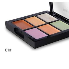 Magical Halo 6 Colors Foundation Cream Contour Highlighter Concealer Palette Set