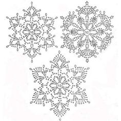 Best 12 Crochet snowflakes – set of 6 snowflakes – handmade of white cotton yarn. Each snowflake has been stiffened using natural cornstarch to hold – SkillOfKing. Crochet Snowflake Pattern, Crochet Stars, Christmas Crochet Patterns, Crochet Snowflakes, Crochet Doily Patterns, Crochet Mandala, Crochet Diagram, Thread Crochet, Crochet Doilies