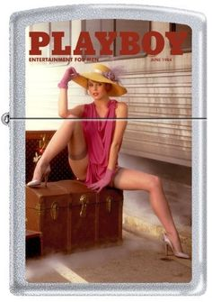 Zippo Playboy June 1984 Cover Satin Chrome Windproof Lighter NEW RARE by Zippo. $19.95. Visit the Stealth Rabbit Amazon Store to See Our Complete Selection of RARE Zippo Playboy Lighters. Windproof. Made in USA. Lifetime Warranty. Brand New in Original Packaging. Brand New Authentic Zippo lighter in original packaging, with orange security sticker in tact. Made in USA, and comes with Zippo's Lifetime Warranty. Visit www.amazon.com/shops/StealthRabbit to see our complete line...