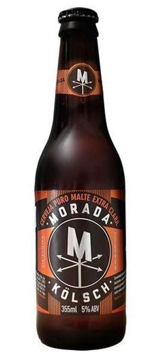Cerveja Morada Kölsch, estilo Kölsch, produzida por Morada Cia Etílica, Brasil. 5% ABV de álcool.
