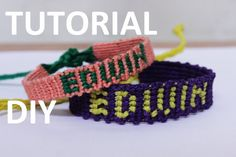 macrame name bracelet tutorial Beaded Braclets, Thread Bracelets, Cute Bracelets, Macrame Bracelets, Handmade Bracelets, Micro Macrame Tutorial, Macrame Bracelet Tutorial, Heart Friendship Bracelets, Diy Friendship Bracelets Patterns