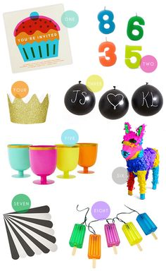 Colorful Party Supplies   Oh Happy Day!