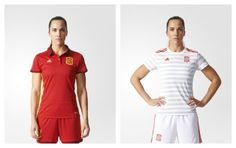 Spain Women's EURO 2017 adidas Home and Away Kits
