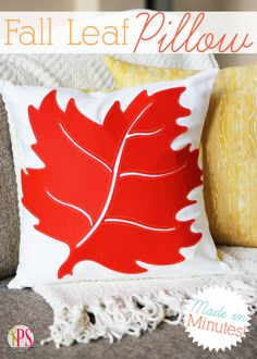 This stunning fall leaf pillow is so easy to make!